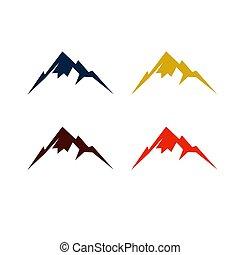 Barevné hory v různých barvách