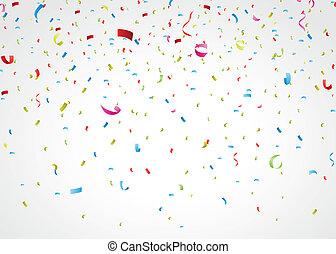 Barevné konfety na bílém