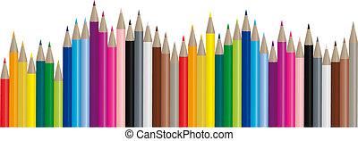 Barevné tužky - vektorový obraz