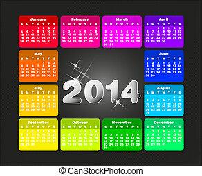 Barevný kalendář pro rok 2005.