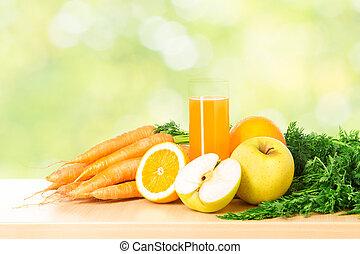 barometr, zdravý, nad, vitamín, držet dietu, šťáva, grafické pozadí., ovoce, nezkušený, strava, rostlina, čerstvý, concept.