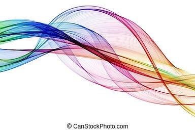 barva, abstraktní, komponování