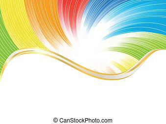 barva, abstraktní, vektor, bystrý, grafické pozadí