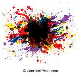 barva, barva, šplouchnutí