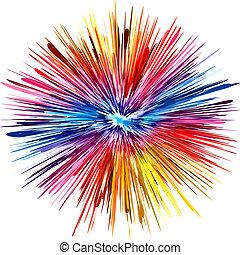barva, exploze