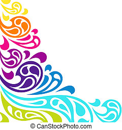 barva, grafické pozadí., abstraktní, kaluž, vlání