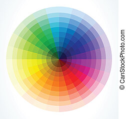 barva, vektor, wheels., ilustrace