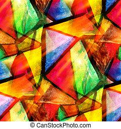 barva vodová, trojúhelník, barva, model, abstraktní, seamless, tkanivo, namočit, barva, zbabělý, design, noviny, grafické pozadí, nezkušený, umění, červeň