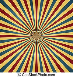 barvy, cirkus, sunburst, grafické pozadí