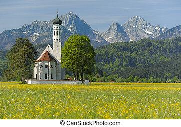 bavorsko, st., coloman, jaro, církev, mezník, německo