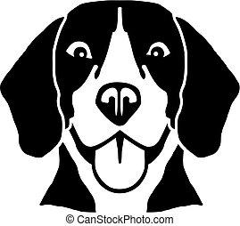 beagle, hlavička