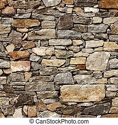 Bezedná struktura středověké zdi kamenných bloků