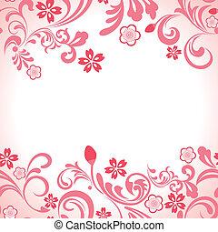Bezedný růžový třešňový rám