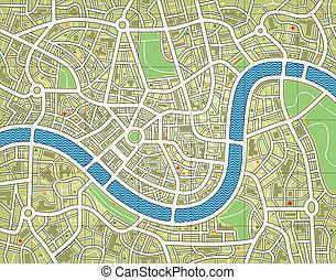 Bezejmenná mapa města