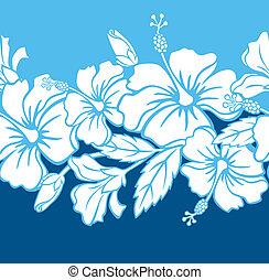 Bezohledný hibiskusní hybridní vzor