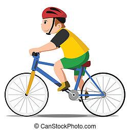 Bicyklační dítě