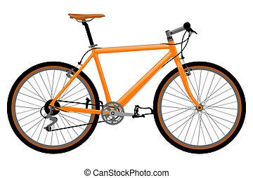 Bicyklační ilustrace.