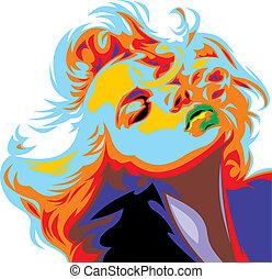 Blonďatej kluk vypadá jako Marilyn Monroe