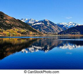 Blue Mountain hillský výhled s horským odrazem