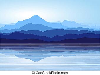 Blue mountains u jezera