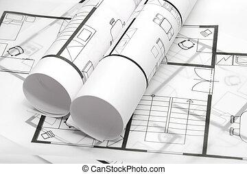 blueprints, architektura