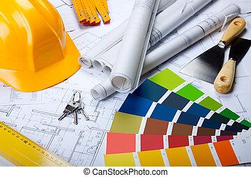 blueprints, otesat dlátem, architektura