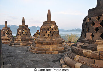 borobudur, stupa