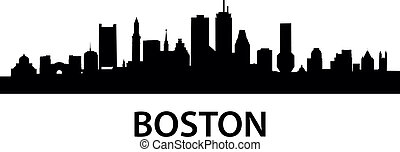 boston, městská silueta
