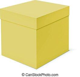 box, grafické pozadí., šablona, čistý, neposkvrněný, lepenka