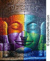buddha, kambodžan, čelit