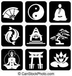 buddhismus, mnich, podpis