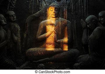 buddhista, hradební
