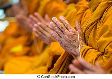 buddhista, píseň, mnisi