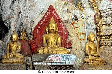 buddhista, pindaya, jeskyně