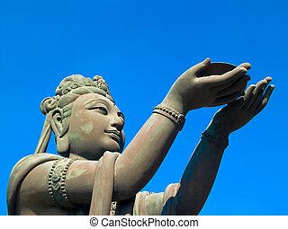 buddhista, socha