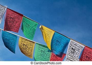 buddhista, vlaječka, prosba