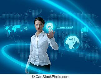 Budoucí obchodní řešení, obchodní žena v rozhraní