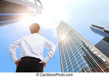 budova, úřad, povolání, úspěšný, dále, venku, voják