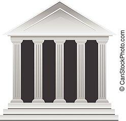 budova, řečtina, dějinný, násep