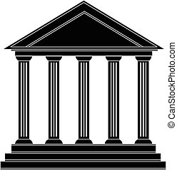 budova, řečtina, dějinný, starobylý, sloupec