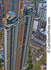 budova, domovní, hongkong