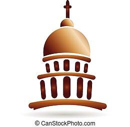 budova, emblém, církev, hlavní, chrám