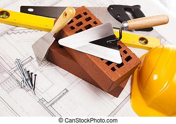 budovat vybavení, konstrukce