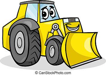 Bulldozerská ilustrace