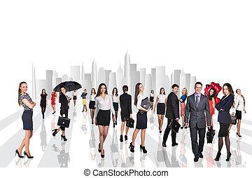 business národ, chůze