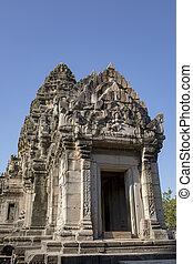 cíl, sever východní, prasat, siter, ratchasima, důležitý, pimai, historický, thajsko, hin, nakorn