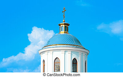 církev, maličký, nebe, neposkvrněný, konzervativní