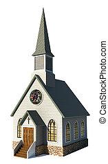 Církev na bílém