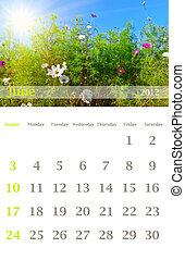 Calendar 2012, june