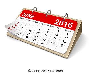 Calendar - june 2016